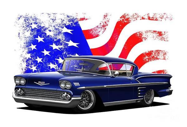 Wall Art - Digital Art - Star Spangled Impala by Paul Kuras