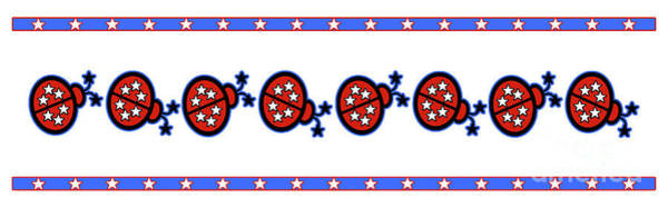 Blue Bug Digital Art - Star-spangled Lady Bugs by Methune Hively