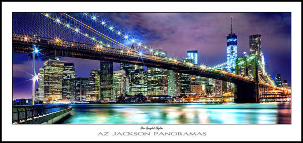 Office Buildings Wall Art - Photograph - Star Spangled Skyline Poster Print by Az Jackson