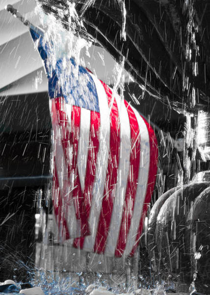 Photograph - Star Spangled Splash  by Scott Campbell