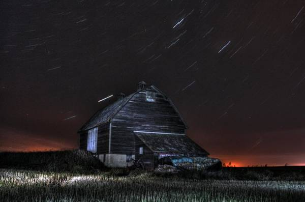 Photograph - Star Stormed Barn by David Matthews