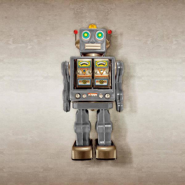 Wall Art - Photograph - Star Strider Robot Grey by YoPedro