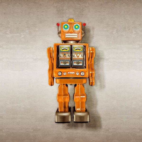 Wall Art - Photograph - Star Strider Robot Orange by YoPedro