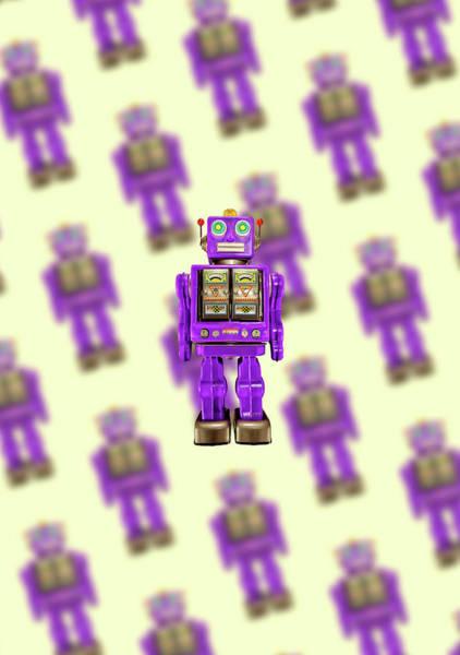 Wall Art - Photograph - Star Strider Robot Purple Pattern by YoPedro