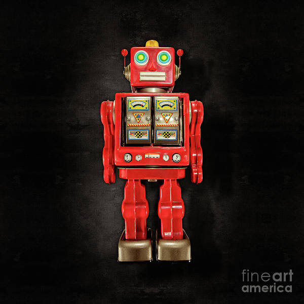 Wall Art - Photograph - Star Strider Robot Red On Black by YoPedro