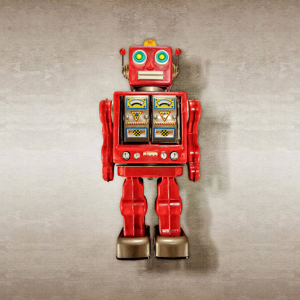 Wall Art - Photograph - Star Strider Robot Red by YoPedro