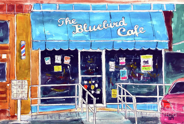 The Bluebird Cafe Painting - Star Struck by Tim Ross