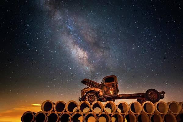 Photograph - Star Struck Truck  by Harriet Feagin