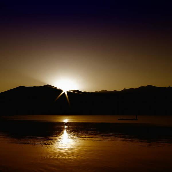 Photograph - Star Sunrise On Priest Lake II by David Patterson
