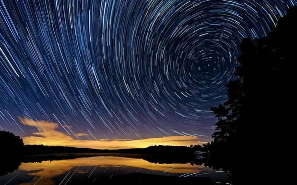 Cachalot Wall Art - Photograph - Star Trail-y Night by Dennis Wilkinson