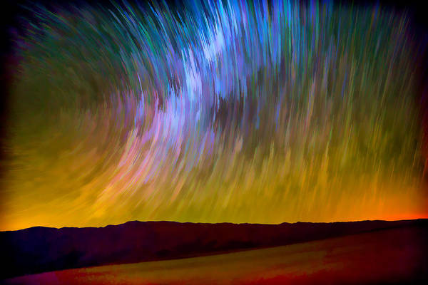 Photograph - Star Trails Abstract by Peter Tellone