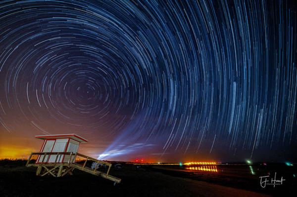Delta Iv Photograph - Star Trails Before Launch by TJ Hunt