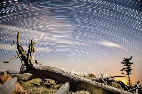 Photograph - Star Trails By Fort Grant by Ryan Ketterer