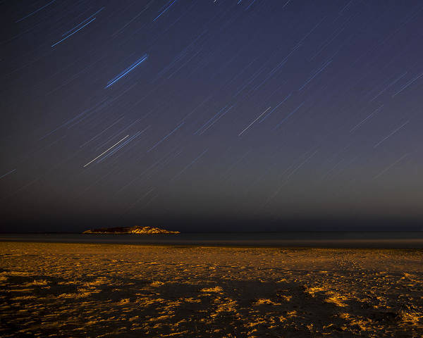 Photograph - Star Trails Over Good Harbor Beach Gloucester, Ma by Toby McGuire