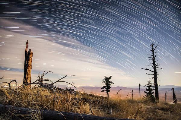 Star Trails Over Mt. Graham Art Print