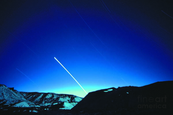 Photograph - Star Trails by Sven Brogren