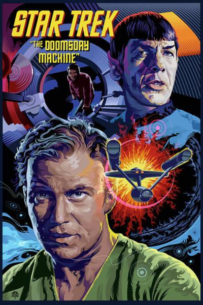 Space Ship Digital Art - Star Trek Doomsday Machine by Garth Glazier