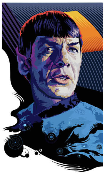 Wall Art - Digital Art - Star Trek Spock Pop Art Portrait by Garth Glazier