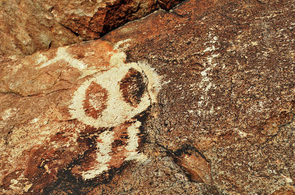 Photograph - Star Visitor Petroglyph by Kyle Hanson