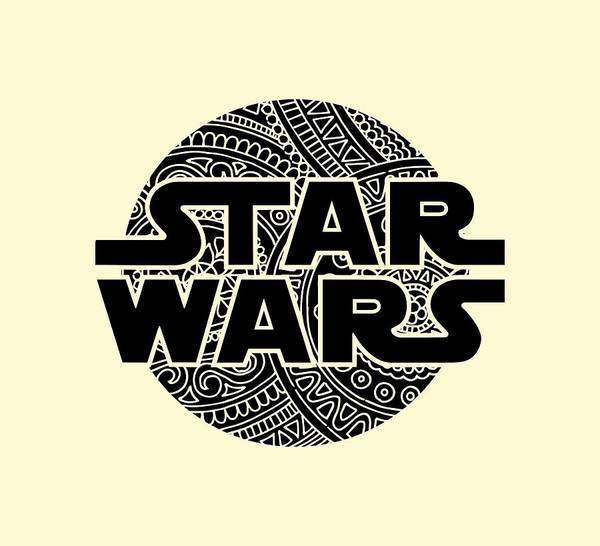 Best Selling Mixed Media - Star Wars Art - Logo - Black by Studio Grafiikka