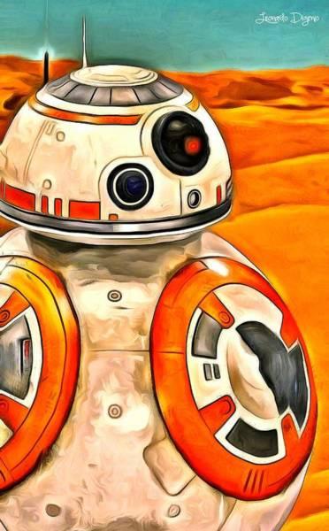 Star Wars Movie Painting - Star Wars Bb-8 by Leonardo Digenio