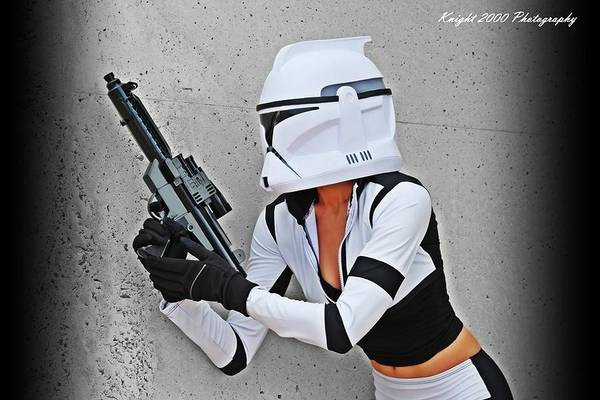 Science Fiction Photograph - Star Wars By Knight 2000 Photography - Waiting by Laura Michelle Corbin
