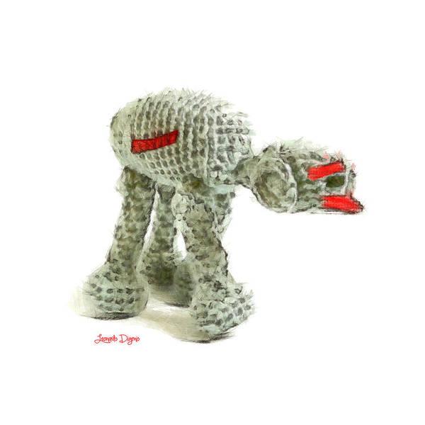 Crochet Digital Art - Star Wars Combat Crochet Armoured Vehicle - Da by Leonardo Digenio