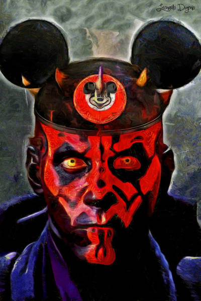 Disney World Digital Art - Star Wars Darth Maul Mouse - Da by Leonardo Digenio