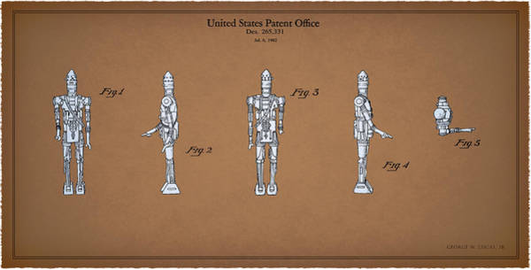 C3po Photograph - Star Wars - Droid Patent by Mark Rogan