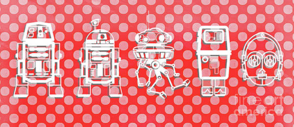 Wall Art - Digital Art - Star Wars Droids Mug by Edward Fielding