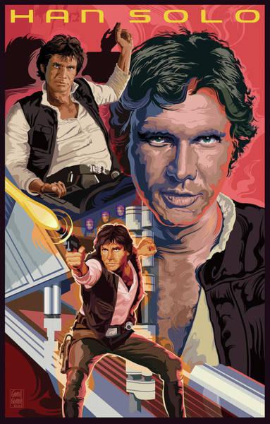 Wall Art - Digital Art - Star Wars Han Solo On Tatooine by Garth Glazier