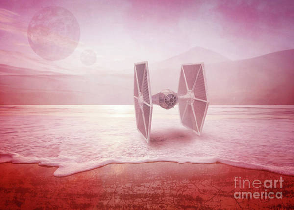 Digital Art - Star Wars Imperial Tie Fighter by Edward Fielding