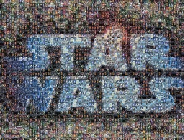 Star Wall Art - Mixed Media - Star Wars Posters Mosaic by Paul Van Scott