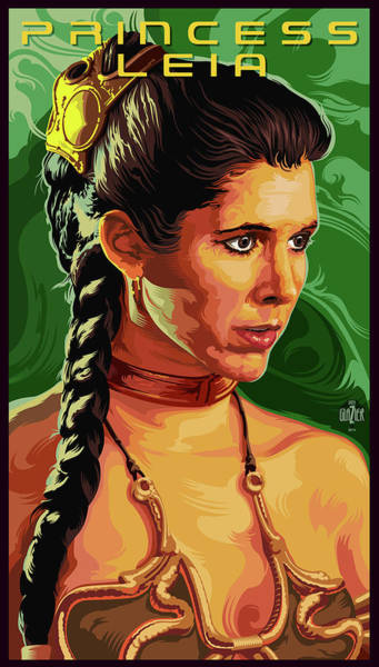 Wall Art - Digital Art - Star Wars Princess Leia Pop Art Portrait by Garth Glazier