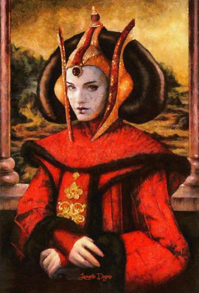 Steven Spielberg Painting - Star Wars Queen Amidala Classical by Leonardo Digenio