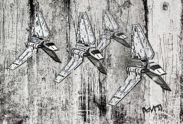 Wall Art - Digital Art - Star Wars Swarm  by Andy Walsh