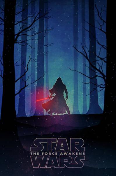 Mixed Media Drawing - Star Wars - The Force Awakens by Farhad Tamim