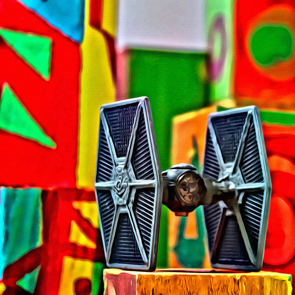 Galactic Empire Photograph - Star Wars Tie Fighter 12 by Modern Art