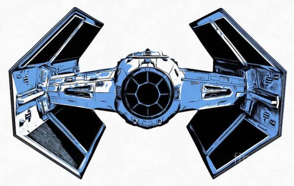 Wall Art - Photograph - Star Wars Tie Fighter Advanced X1 by Edward Fielding