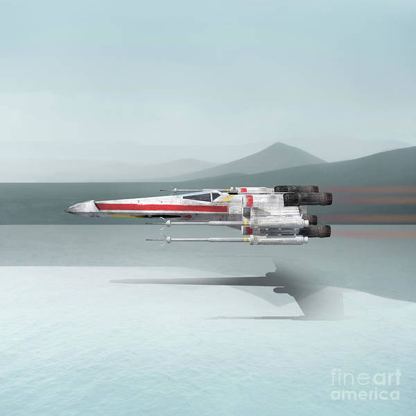 Digital Art - Star Wars X-wing Fighter by Edward Fielding