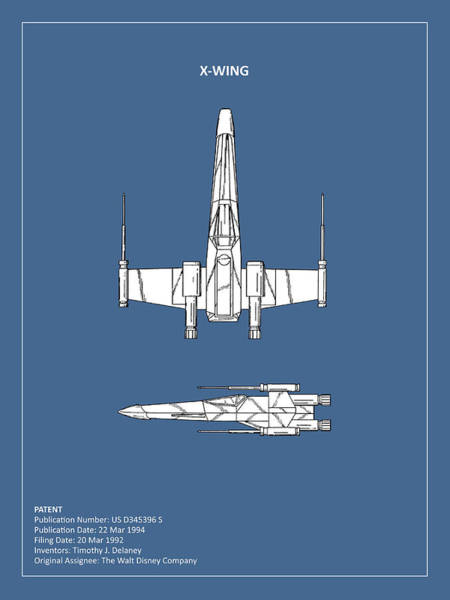 X Wing Photograph - Star Wars X-wing Fighter by Mark Rogan