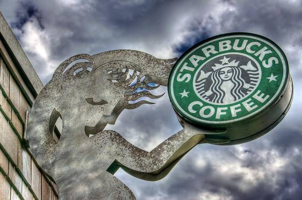 Wall Art - Photograph - Starbucks Coffee by Spencer McDonald
