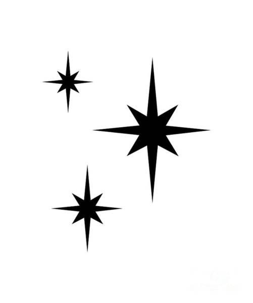 Digital Art - Starburst 2 Trio  by Donna Mibus