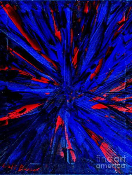 Painting - Starburst Blue by Walt Brodis