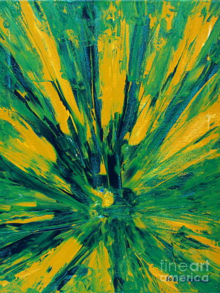 Painting - Starburst Green by Walt Brodis