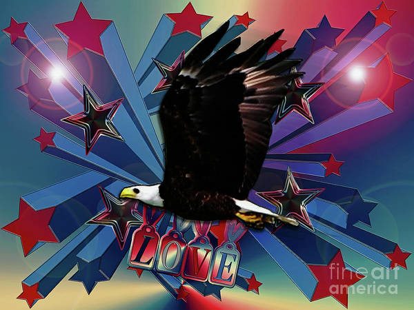 Photograph - Starburst Love Eagle by Rockin Docks Deluxephotos