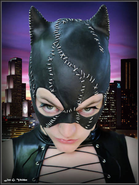 Photograph - Stare Of A Cat Woman by Jon Volden