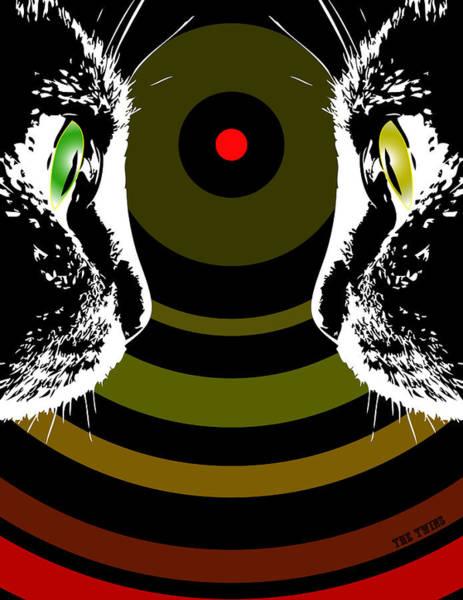 Digital Art - Stare Off by Erik Paul