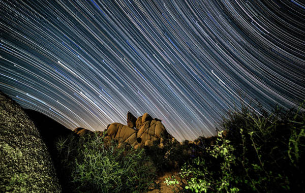 Star Trails Photograph - Starfall by Ryan Weddle