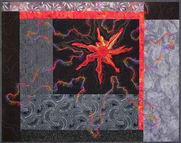 Tapestry - Textile - Starfire by Pat Dolan